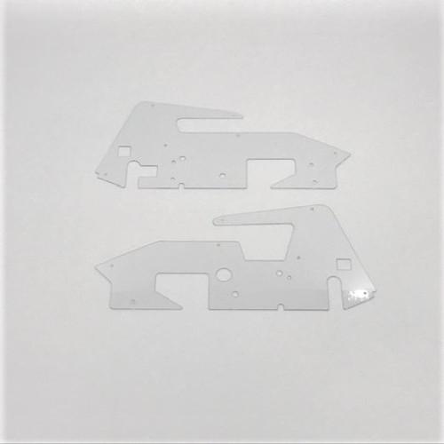 Body Side Panels, LH/RH, Clear, 1/18 Silver Crown
