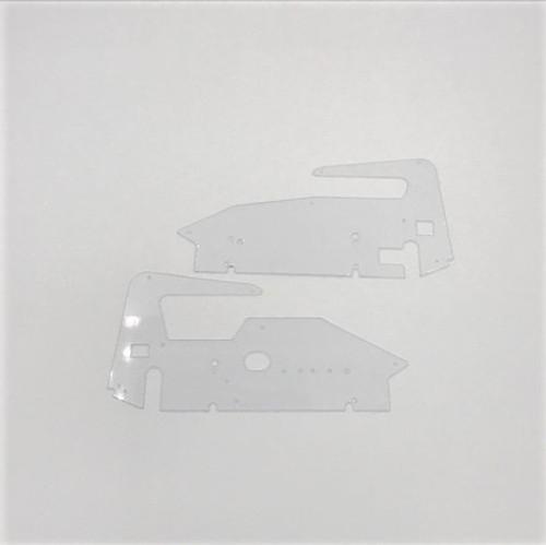 Body Side Panels, LH/RH, Clear, 1/18 Midget 2.0