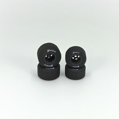 FR/RR Tires & Wheels, Black, 1/18 EDM (4)