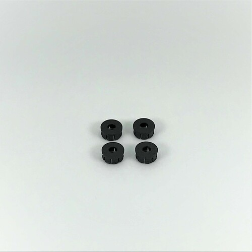 Wheel Covers, Black, 3D Printed, 1/18 EDM, LM (4)