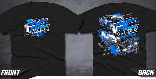 T-Shirt, 1RC, Black, 3XL