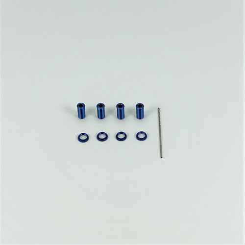 Threaded Alum Shock Body Set, Blue, 18th Scale (4)