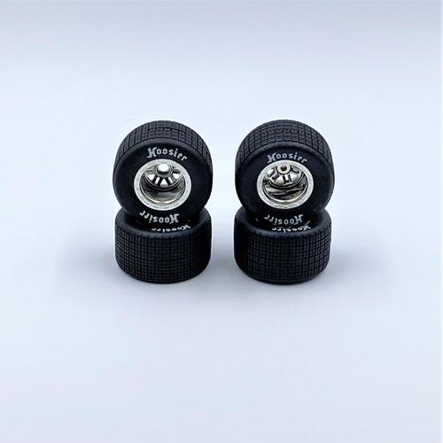 FR/RR Tires & Chrome Wheels, 1/18 LM (4)
