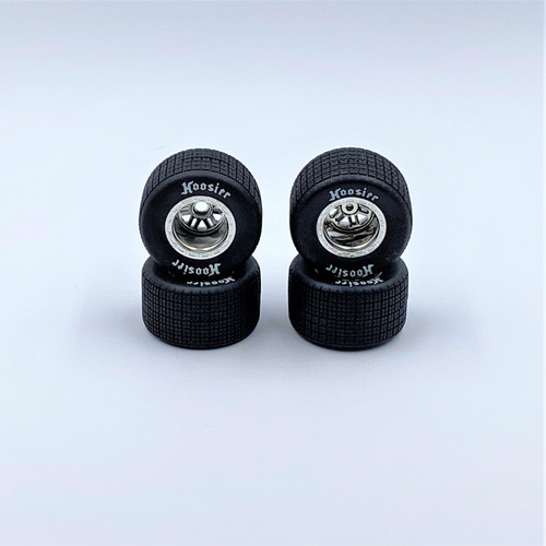 FR/RR Soft Tires & Chrome Wheels, 1/18 LM (4)