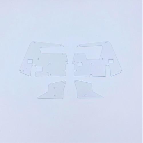Body Side Panels, LH/RH, Clear, 1/18 Sprint 3.0