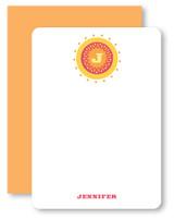 Sun Circle Monogram Personalized Stationery