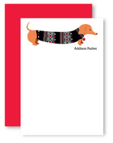 Sweater Doxie Personalized Stationery