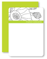 B & W Poppies Personalized Stationery