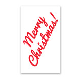 Cursive Merry Christmas Enclosure Cards