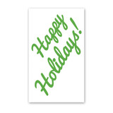 Cursive Happy Holidays Enclosure Cards