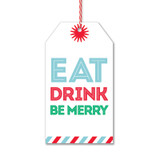 Eat, Drink, Be Merry Gift Tags by Rock Scissor Paper