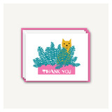 Cat Planter Thank You Cards