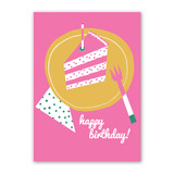 Cake is Great Birthday Card by Rock Scissor Paper