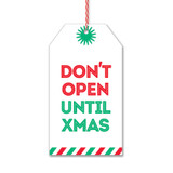Don't Open Til Xmas Gift Tag by Rock Scissor Paper