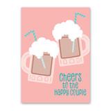 Happy Couple Floats Wedding Card by Rock Scissor Paper