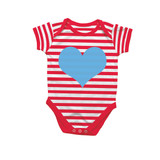 Heart Red Stripe Bodysuit