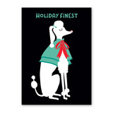 Fancy Poodle Holiday Card
