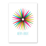 Colorful Starburst Holiday Card
