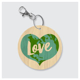 Love Earth Keychain