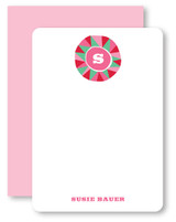 Facet Circle Monogram Personalized Stationery