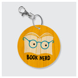 Book Nerd Keychain by Rock Scissor Paper