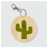 Happy Cactus Keychain by Rock Scissor Paper
