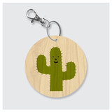 Happy Cactus Keychain by Rock Scissor Paper