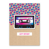 Mix Tape Sticker Card