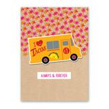 Taco Truck Sticker Card