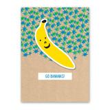 Banana Sticker Card