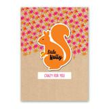 Squirrel Sticker Card