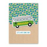 Camper Van Sticker Card