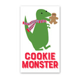Cookie Monster Dinosaur Mini Cards - Pack of 4