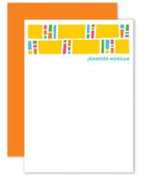 Block Pattern Personalized Stationery