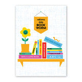 Baby Book Worm Baby Card