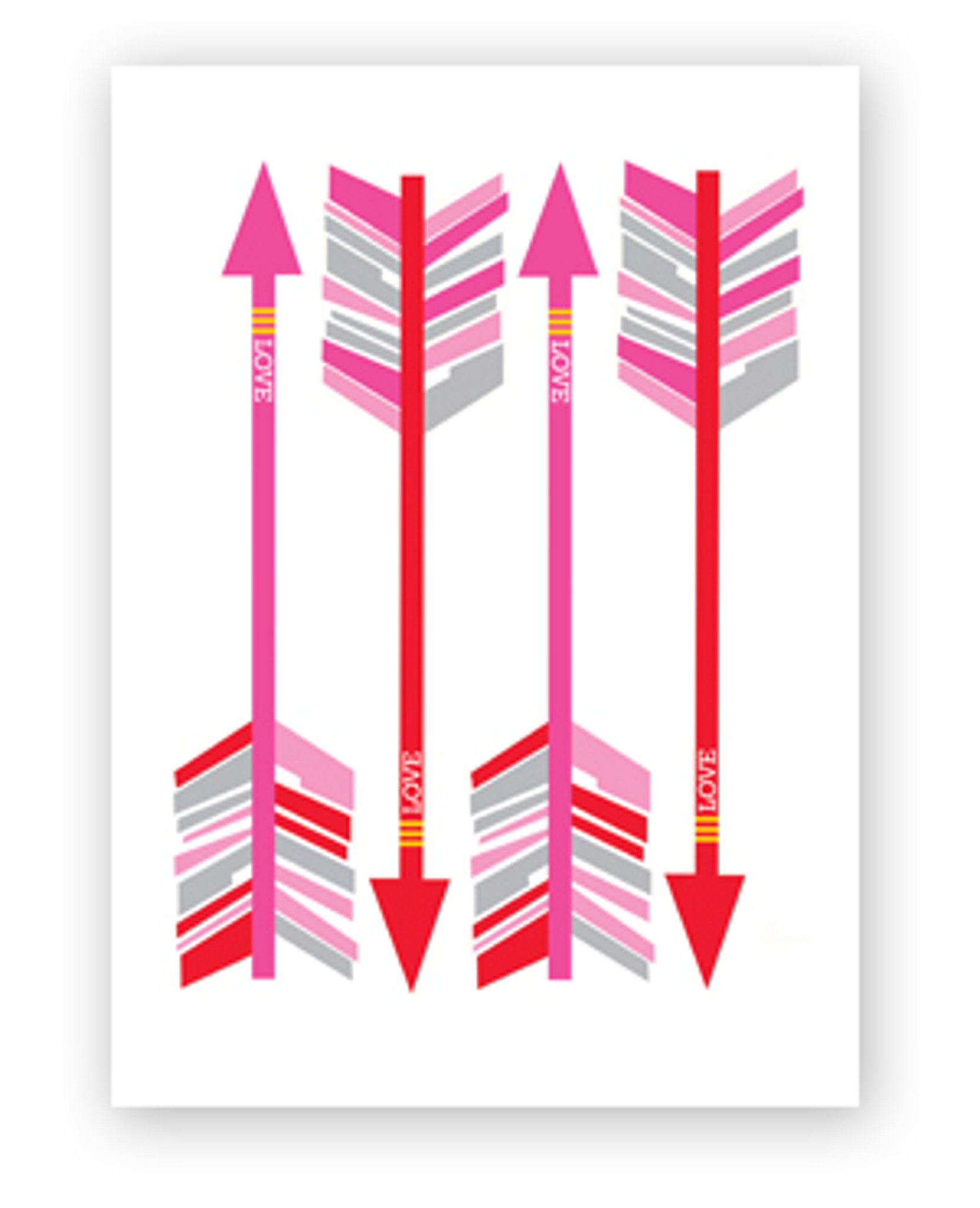 Arrows Valentine's Day Card