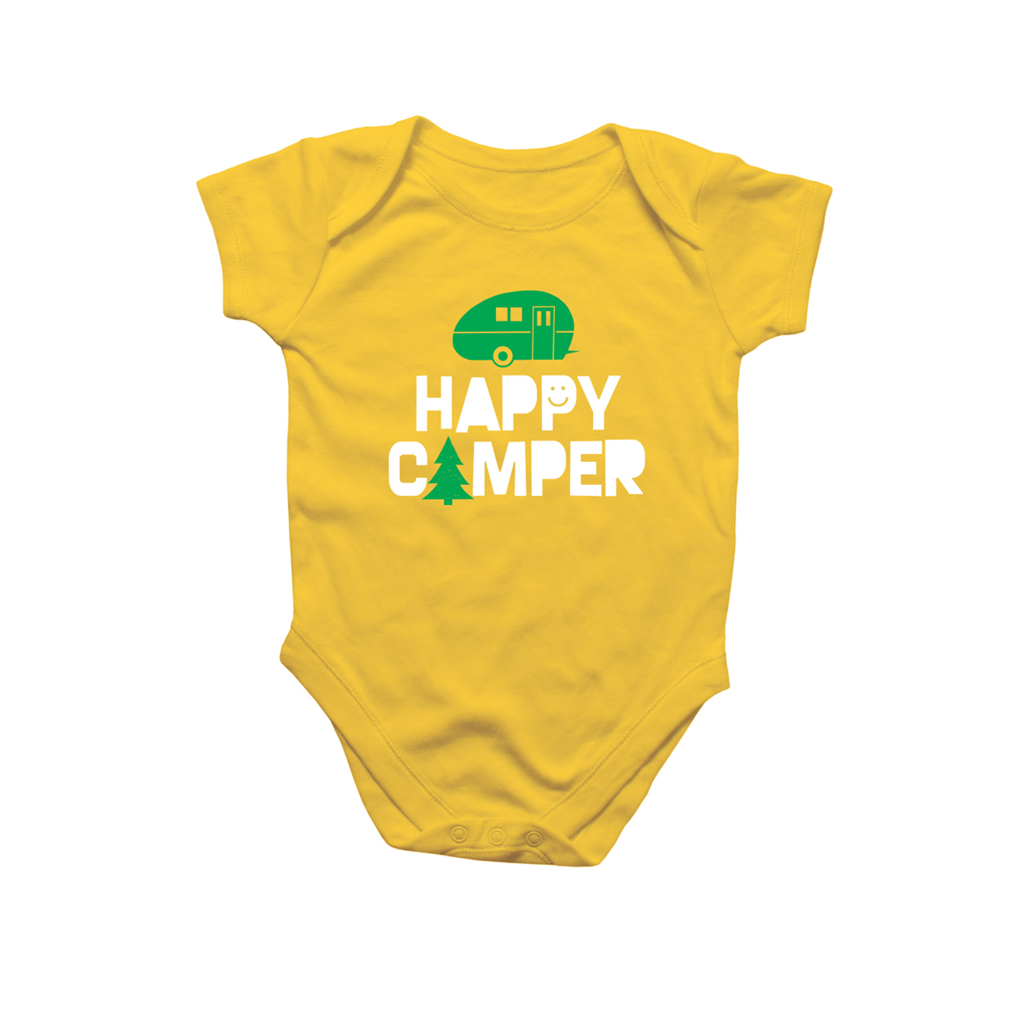 Happy Camper Baby Onesie by Rock Scissor Paper