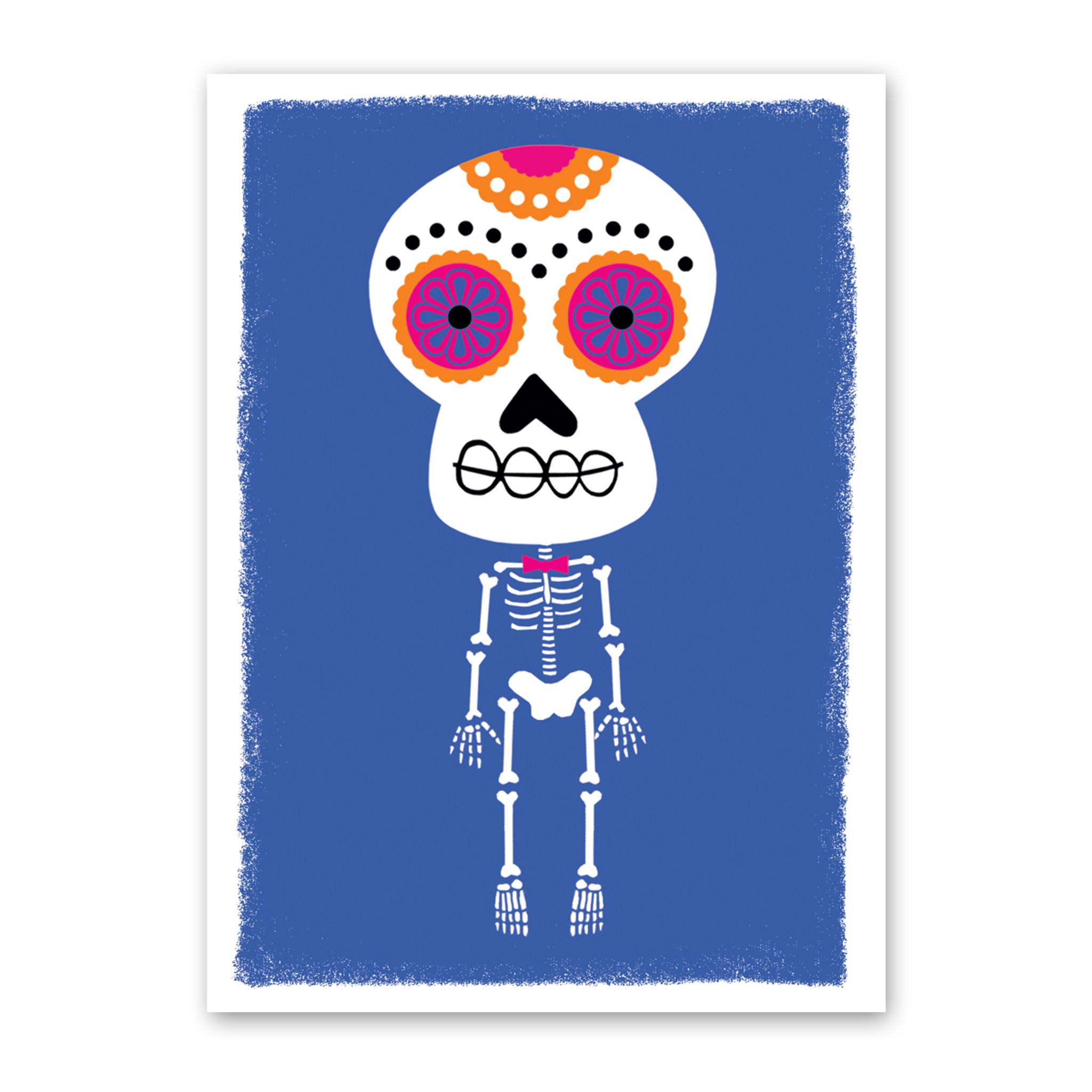 Boneshaker Skeleton Halloween Card by Rock Scissor Paper