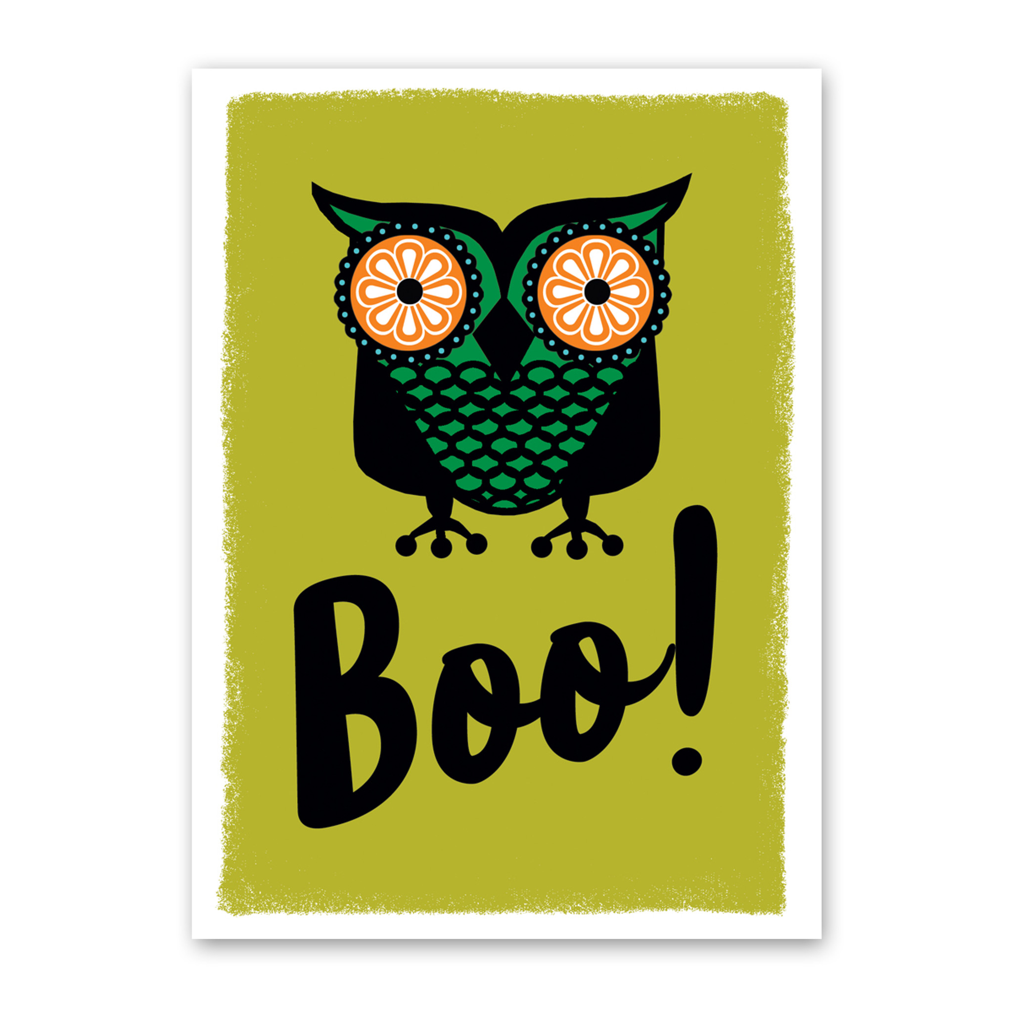 Big Boo Owl Halloween Card by Rock Scissor Paper