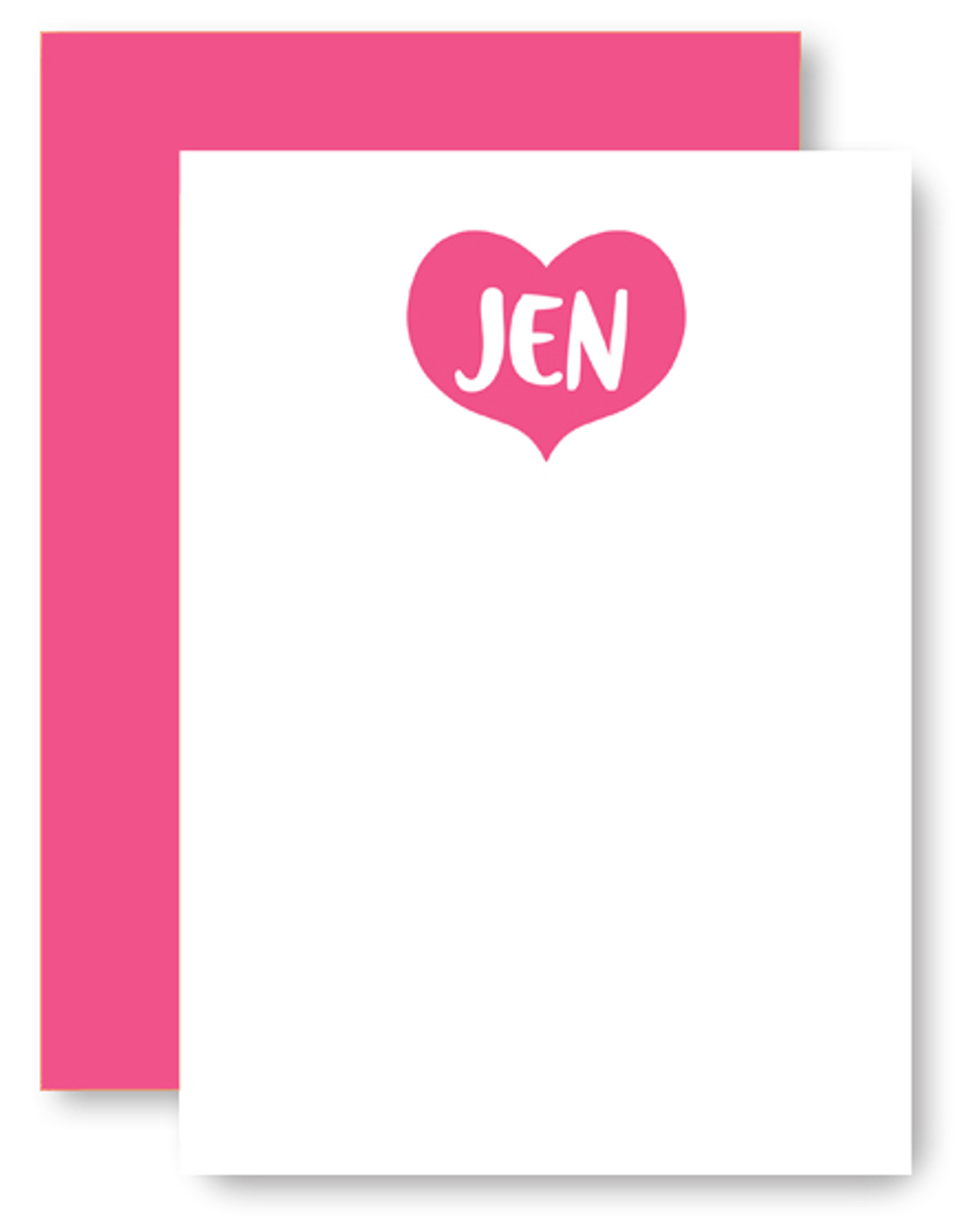 Big Heart Personalized Stationery