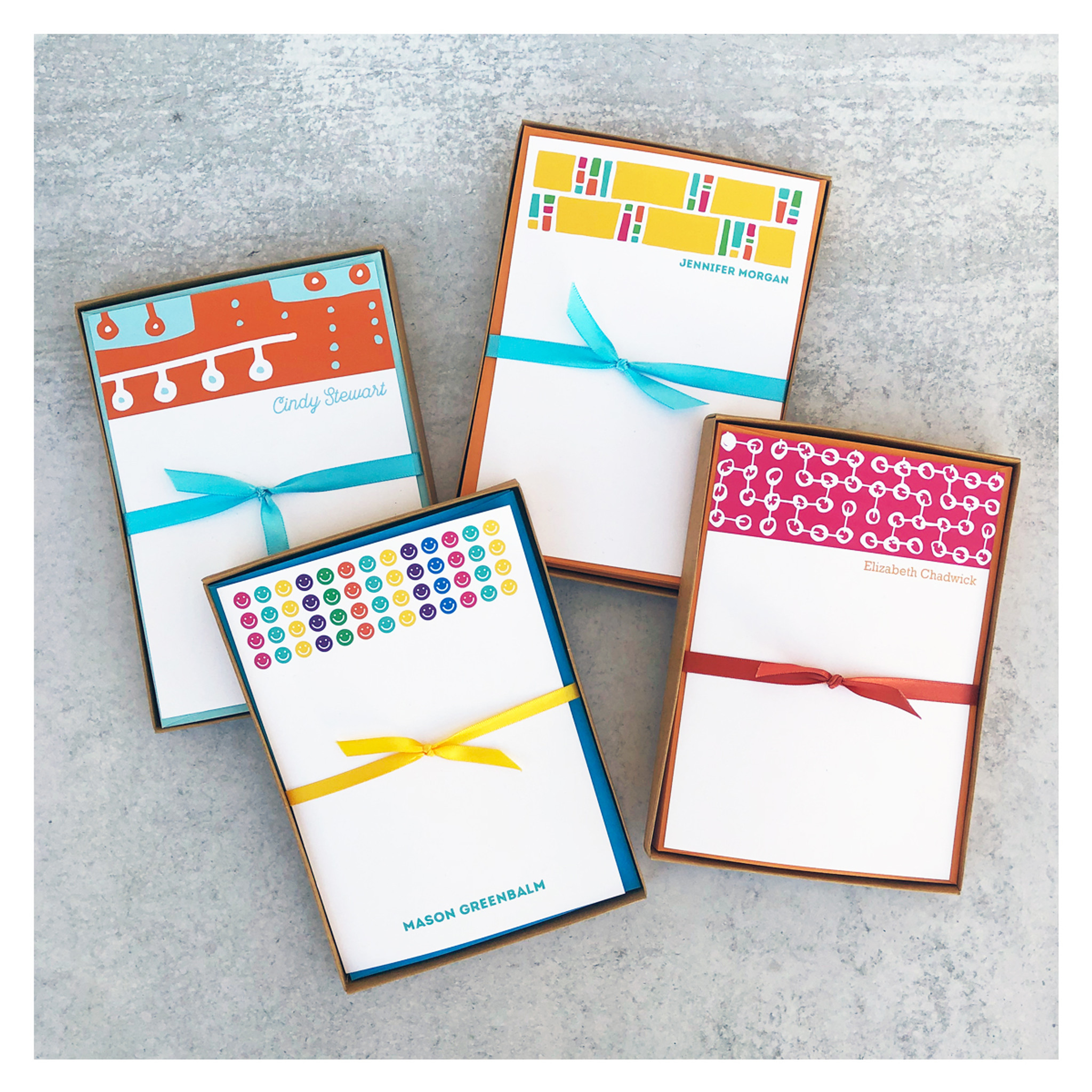 Colorful Starburst Personalized Stationery