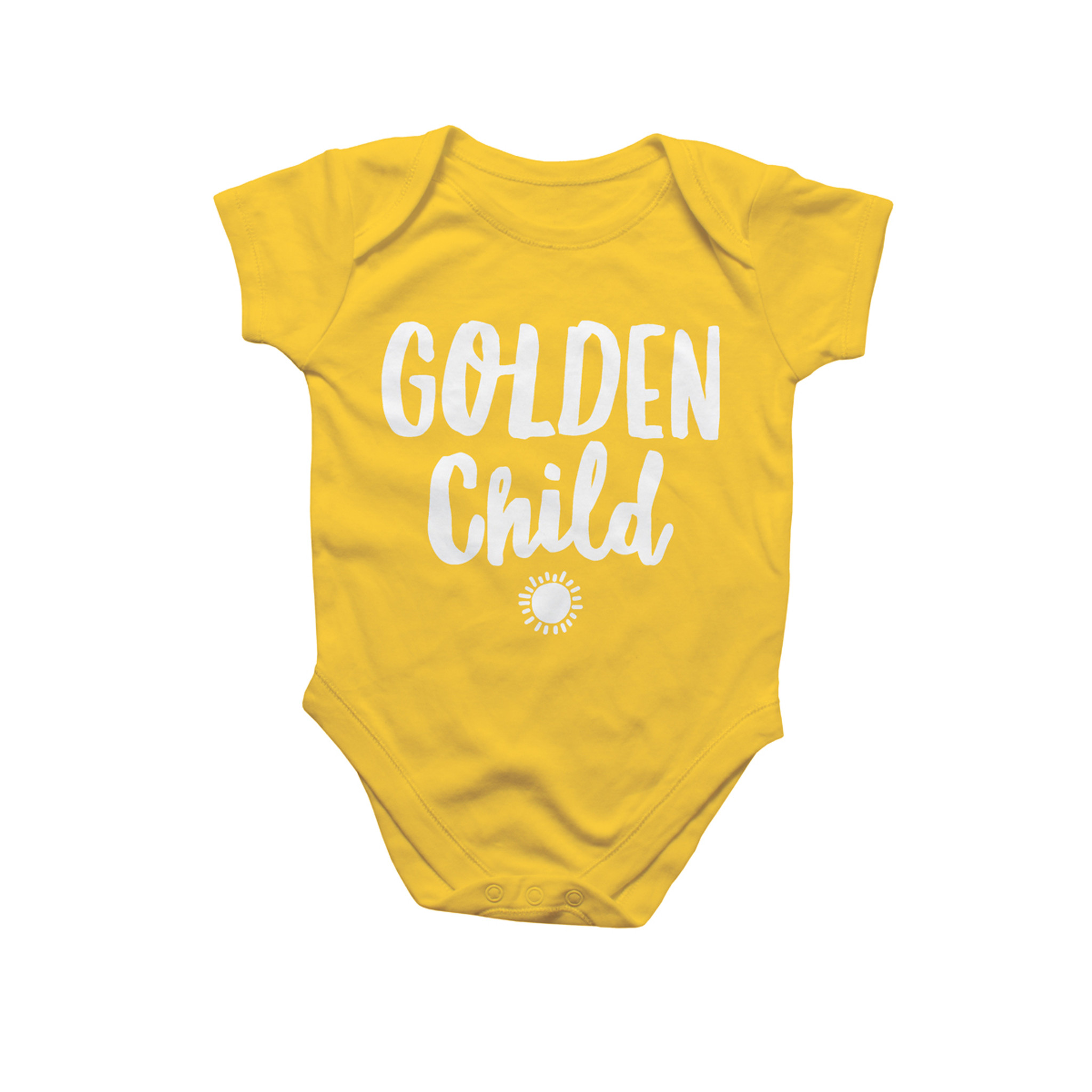 Golden Child Baby Onesie by Rock Scissor Paper