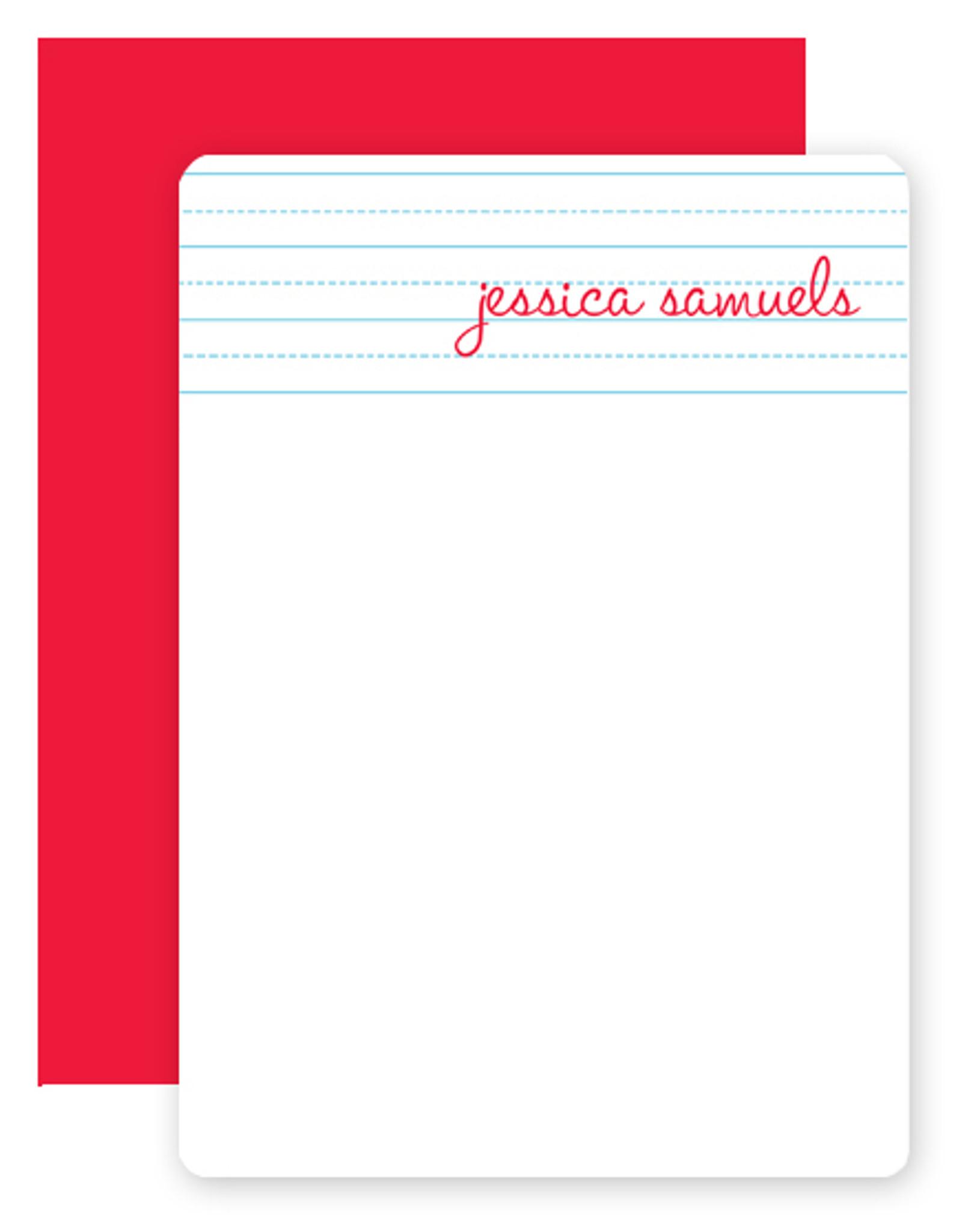 Cursive Personalized Stationery