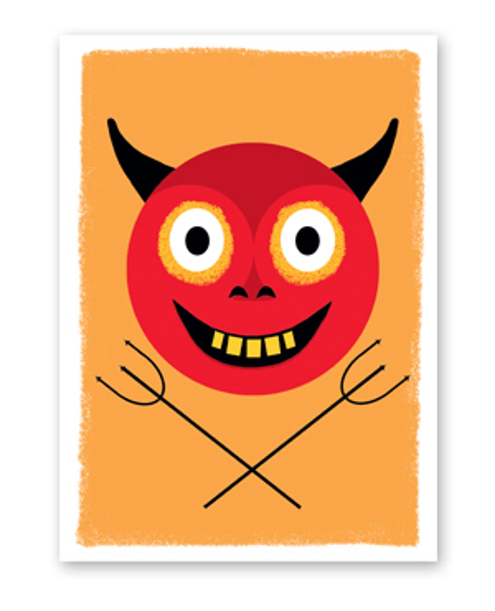 Devil Halloween Card