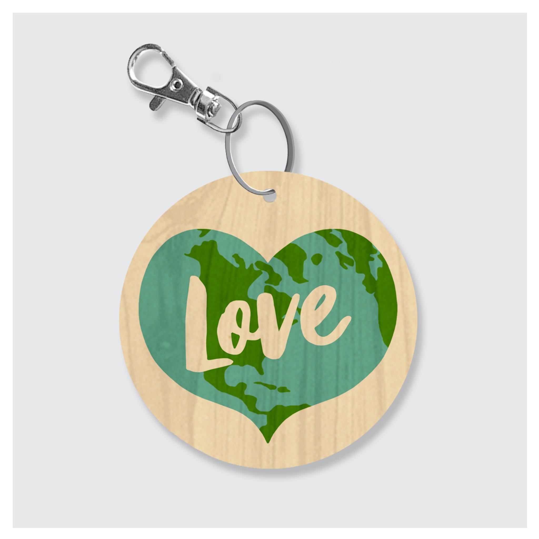 Love Earth Keychain