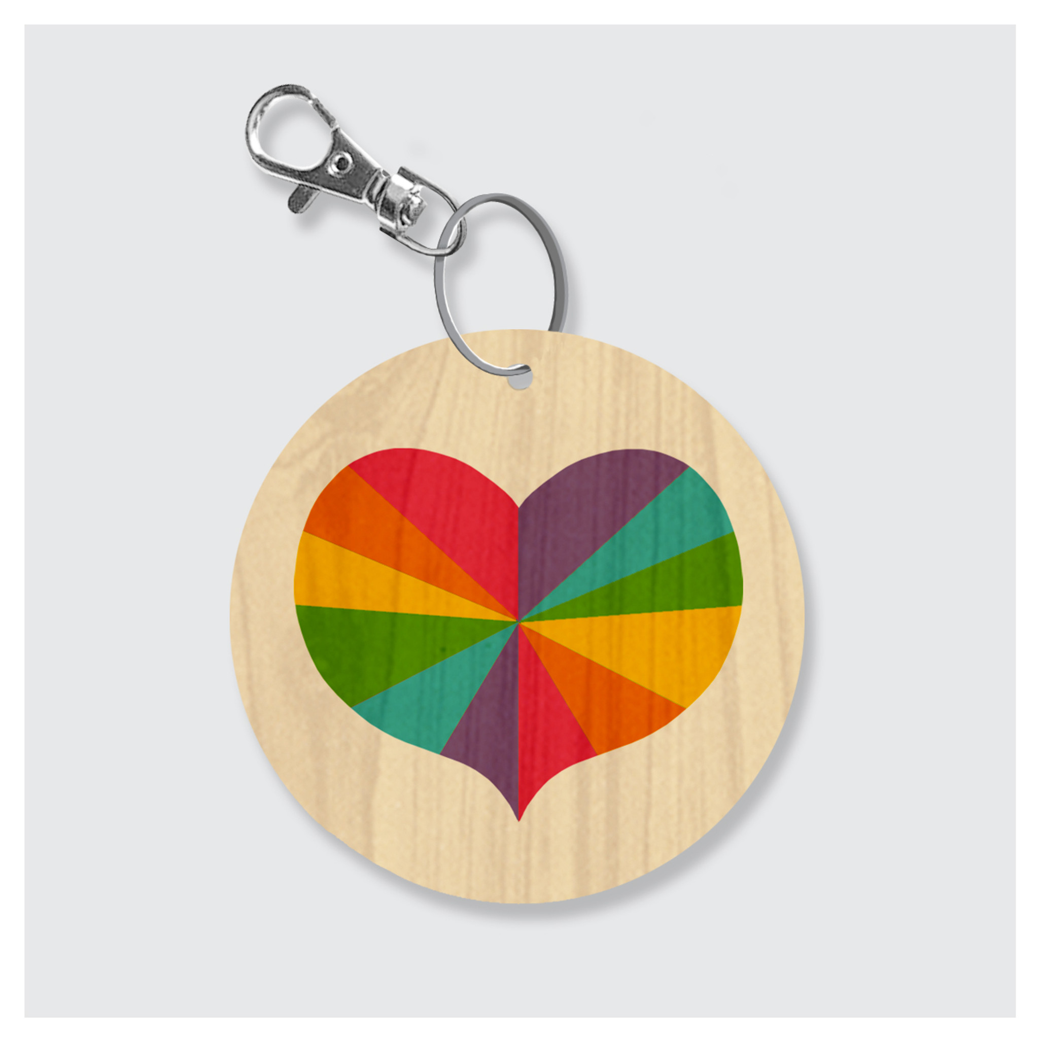 Colorful Heart Keychain