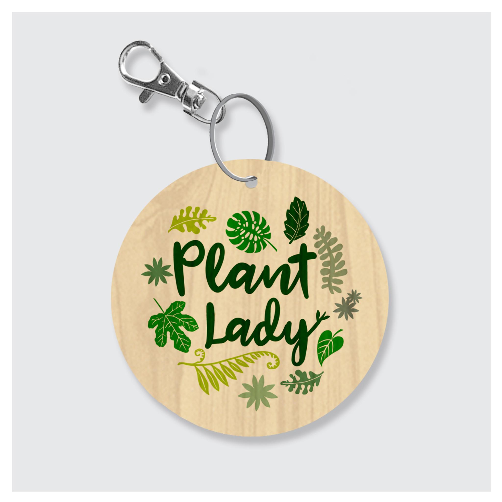 Plant Lady Keychain