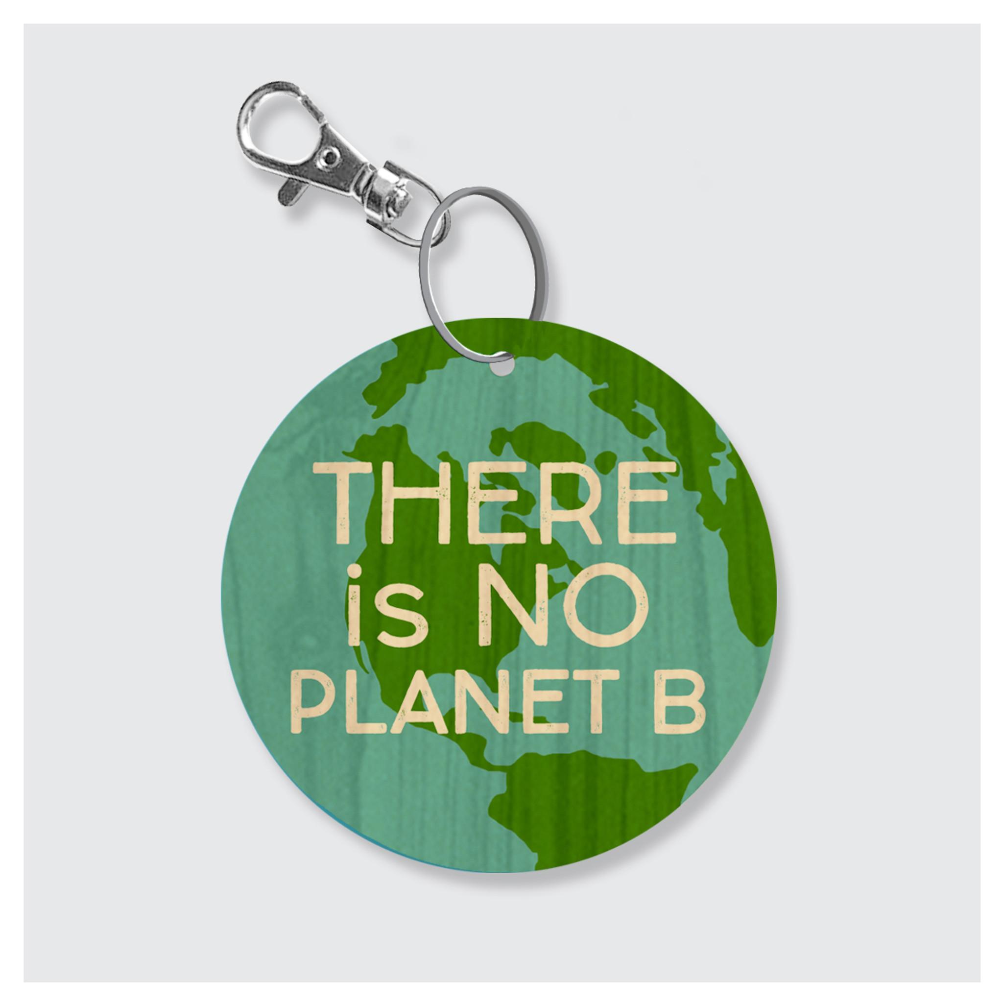 No Planet B Keychain