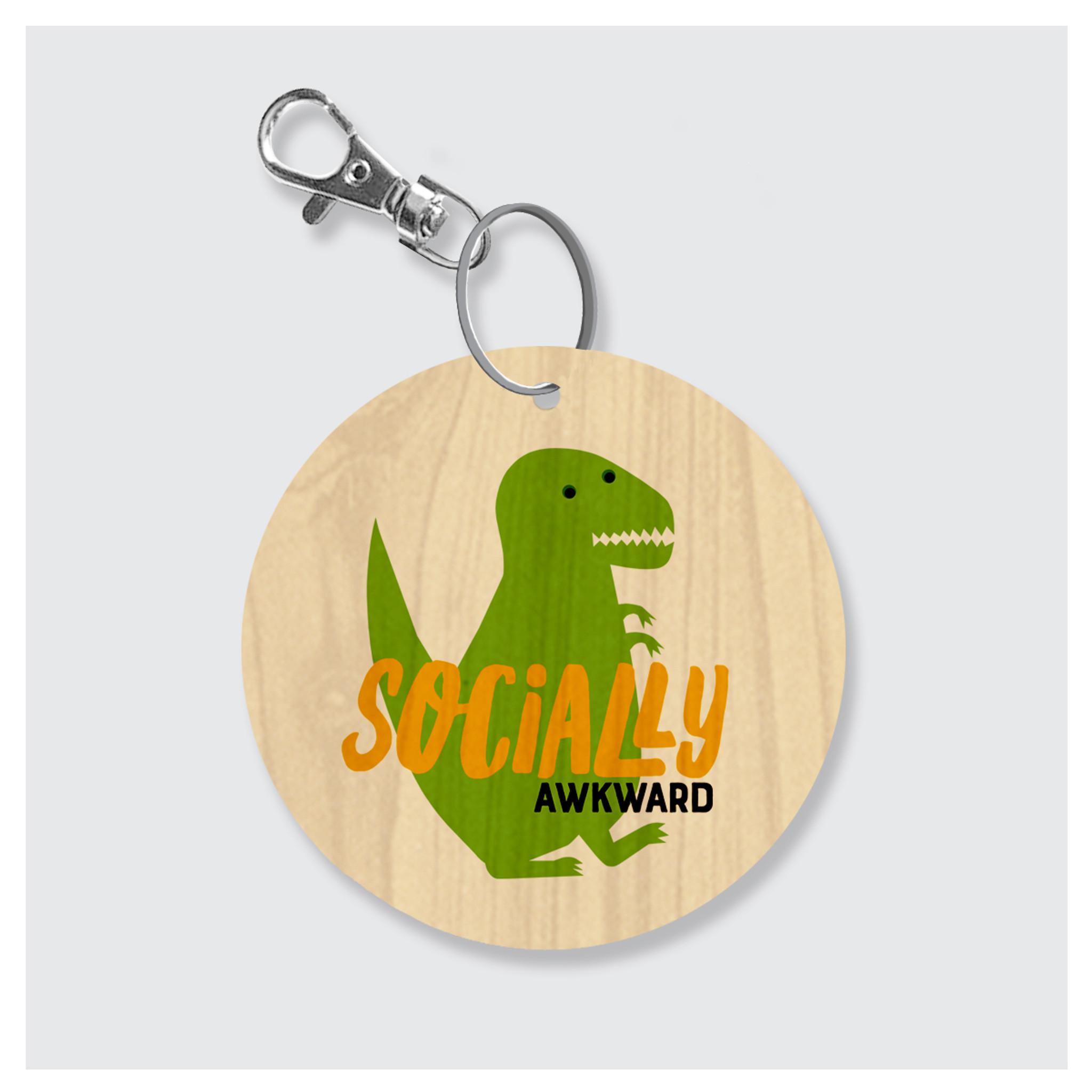 Socially Awkward Keychain