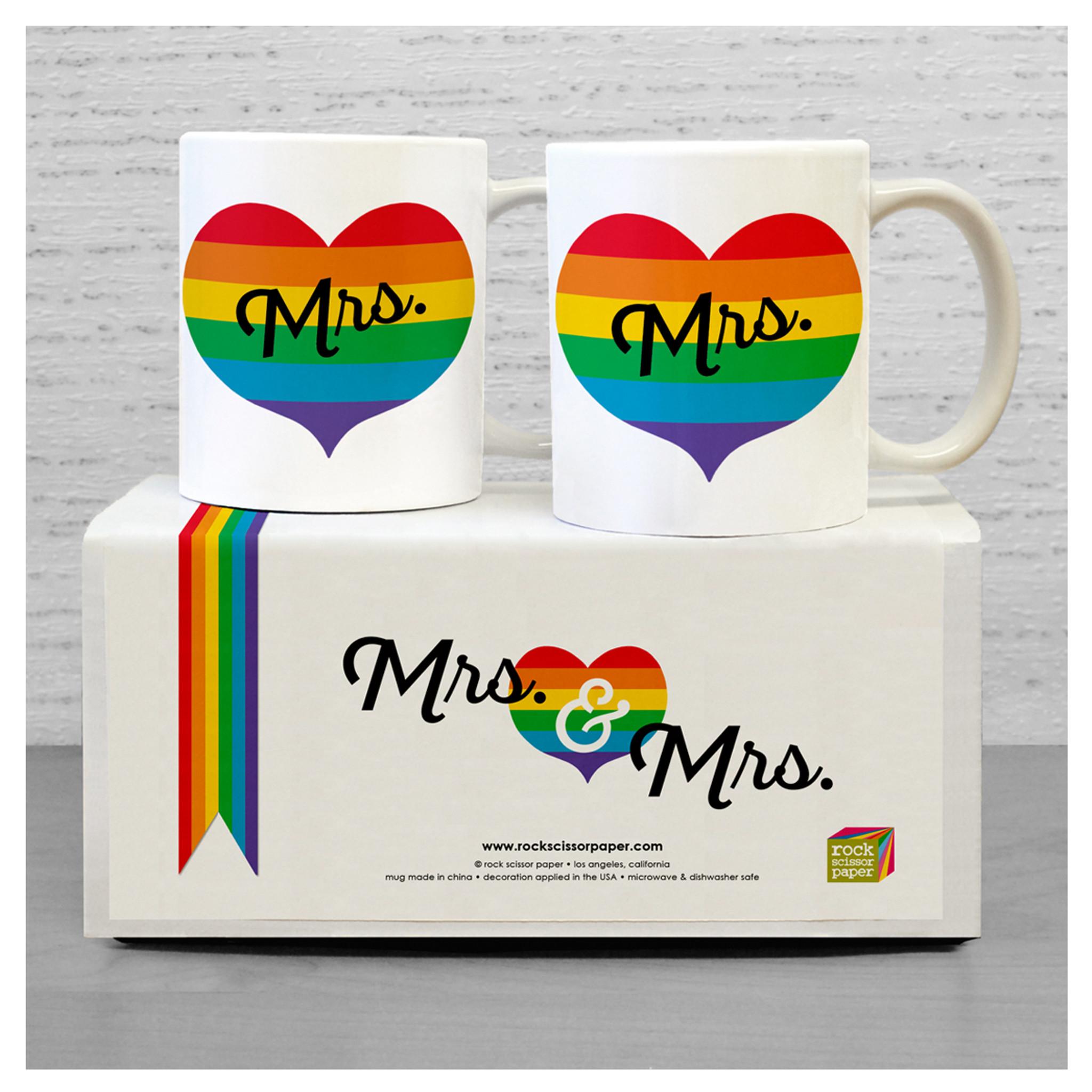 Mrs & Mrs Heart Mug Set